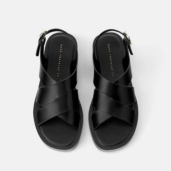 Zara Minimal Flat Sandals